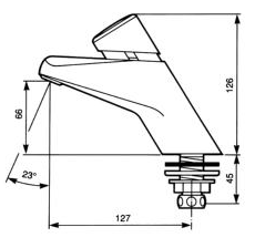 Umývadlový ventil Presto P2000, P2000S