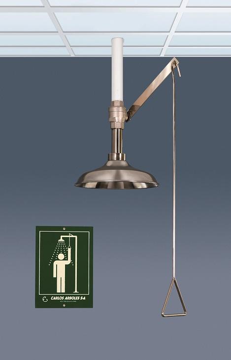 Celková bezpečnostná sprcha celotelová CA1100TI v nerezovom prevedení s piktogramom