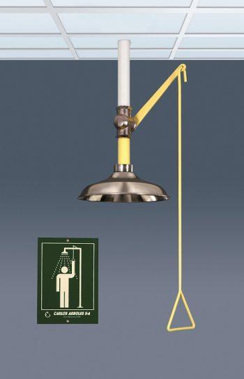 Celková bezpečnostná sprcha celotelová CA1100SS s nerezovou hlavicou a piktogram