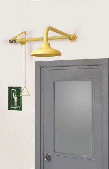 Celková bezpečnostná sprcha celotelová CA1141 s ABS plast hlavicou nad dverami