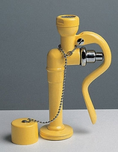 žltá stolová laboratórna očná havarijná sprcha CA3120 bez výlevky - pre 1 oko