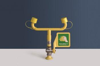 žltá stolová laboratórna očná sprcha CA3500 bez výlevky s pákou - havarijná sprcha