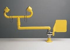 pohyblivá žltá stolová laboratórna očná sprcha CA3610 havarijná bez výlevky s pákou