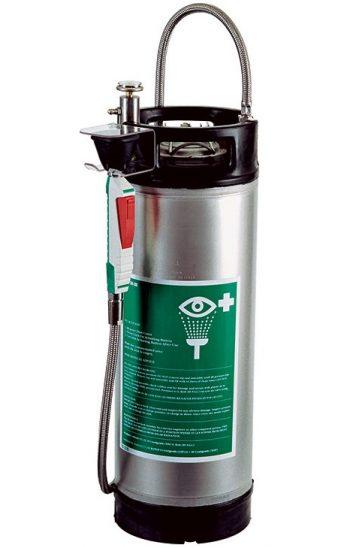 Prenosná bezpečnostná sprcha s ručnou sprchou s vystuženou hadicou a nerezový 14l zásobník vody