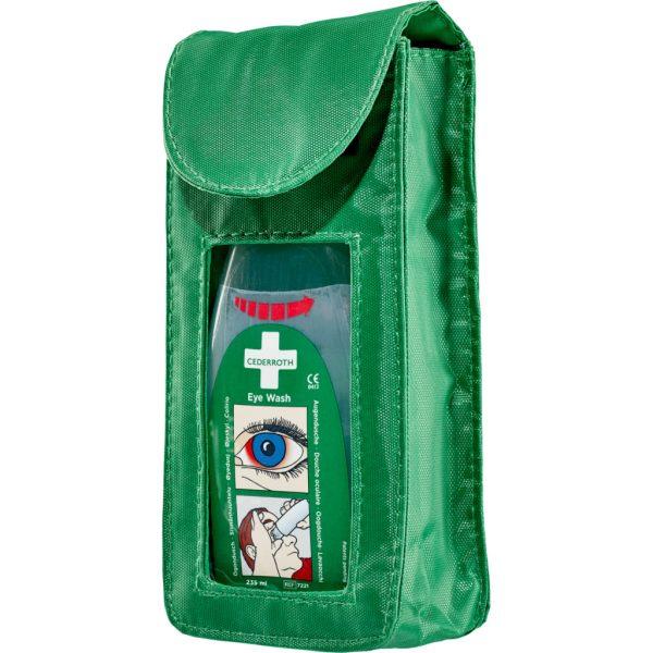 Zelené puzdro na opasok 7203 Holster s očnou sprchou 235ml s označením 7221 natočenie sprava