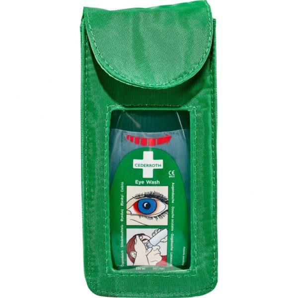 Zelené puzdro na opasok 7203 s očnou vodou 235ml s označením 7221 pohľad spredu