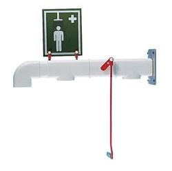 Exteriérová nástenná havarijná sprcha pre celkový oplach