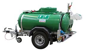 Zelená mobilná zásobníková sprcha Hughes std-mh-p s tankom na kolesách