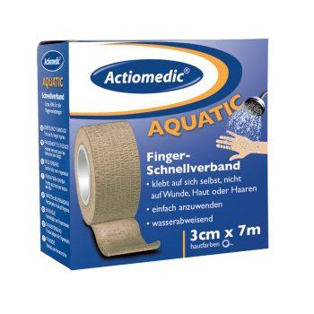krabička Actiomedic Aquatic so samolepiacim vodeodolným rýchloobväzom telovej farby